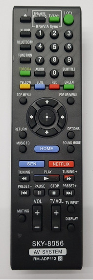Controle Home Theater Sony Rm-adp112
