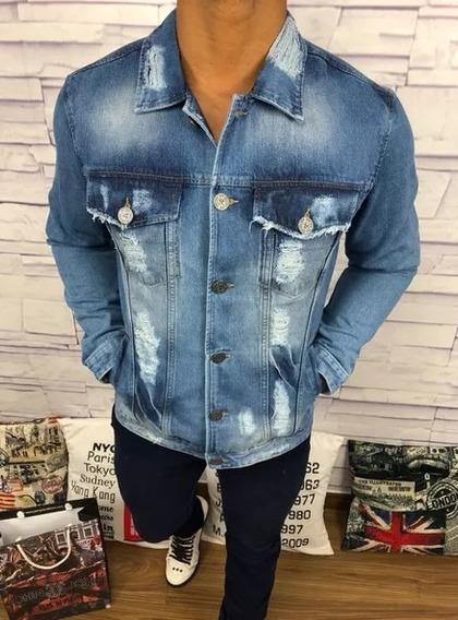 Jaqueta Masc. Jeans Homem Moderno Marcas De Luxo Original