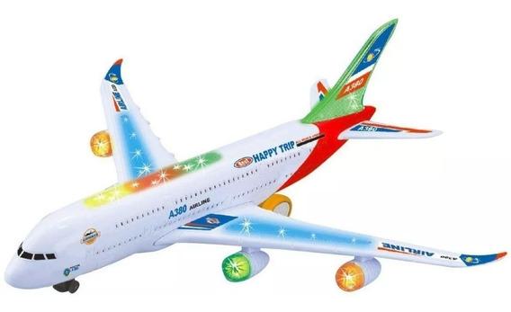 Avion Juguete A380 Con Sonido Luz Armable Movimientos Niños