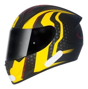 Capacete Moto Mt Stinger Warehead Fosco Amarelo - Promocao