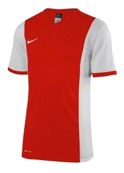 Camiseta Masculina Nike Vermelha C/ Branca Dri Fit - 620879