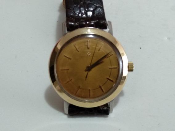 Reloj Eternamatic Automático Vintage Bisel De Oro Sólido