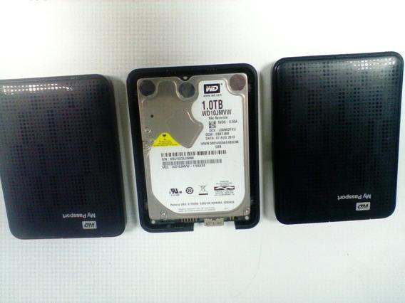 3 Hds Externo 500 Gb E 1 Tb Werstern Digital Com Defeito