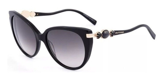 Oculos Sol Ana Hickmann Ah9192 A01 Preto Lente Cinza Degradê