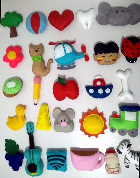 26 Objetos , Frutas Animais , Para Representar O Alfabeto.