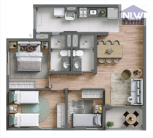 Apartamento Com 3 Dormitórios À Venda, 62 M² Por R$ 528.860,00 - Vila Constança - São Paulo/sp - Ap2629