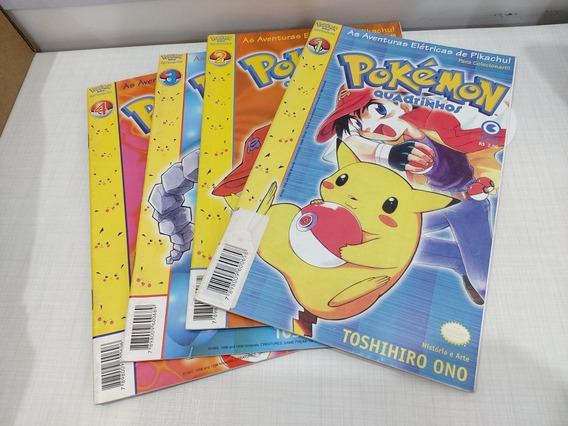 Pokémon Quadrinhos Vol 1 Ao 4 Completo Conrad Mangá Ono