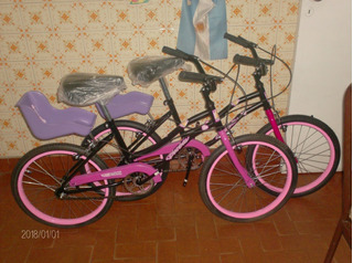 Bicicleta Barbie Con Porta Muniecas No Envios