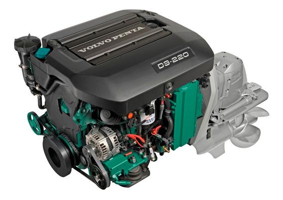 Motor Diesel Lancha Ou Barco Volvo Penta D3 220hp Com Rabeta
