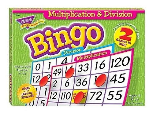Multiplicación - Juego De División De Bingo