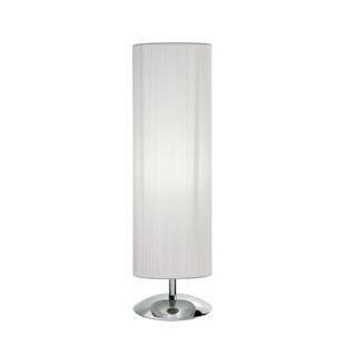 Lámpara De Mesa 1x E27. Pantalla Cilíndrica De Hilo Blanco -