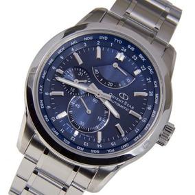Relógio Orient Star Automático Sjc00002d0 Visor Azul