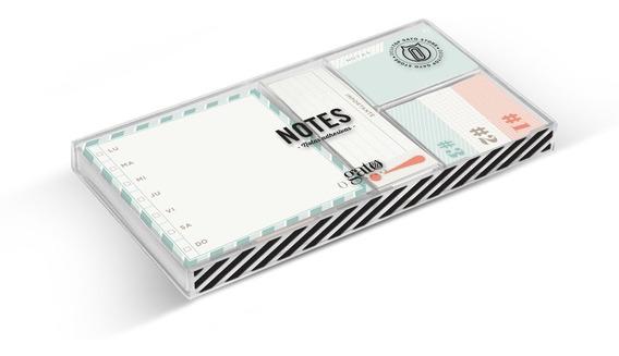 Notas Adhesivas Set De 6 Modelos Diferentes Notes Gato Store