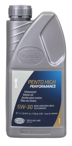 Aceite Motor Pentosin Vw Jetta 1997 4 Cil. 2.0l 5w30; 1 L