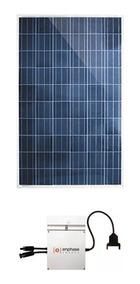 Panel De De 270 Watts E Inversor Kit Para Casa Pequeña