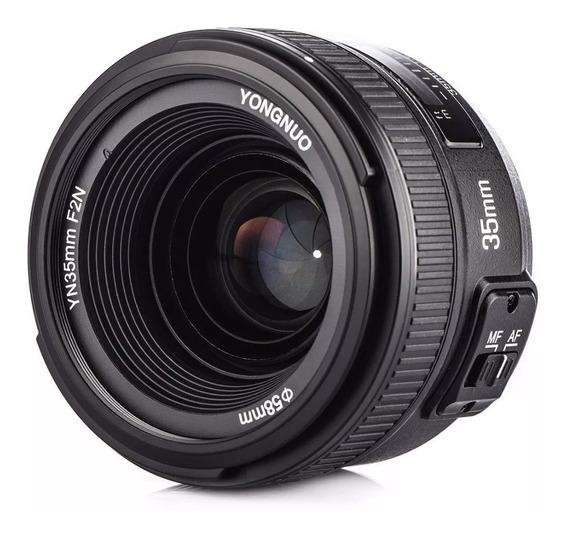 Lente Yongnuo 35mm F2.0 Nikon Envio Inmediato