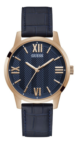 Reloj Para Hombre Guess Campbell Color Azul Gw0250g3