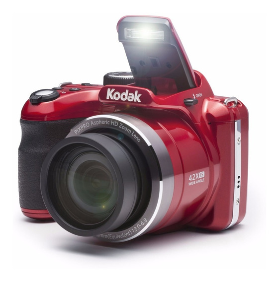 Cámara Kodak Bridge Astro Zoom Az421 Rojo