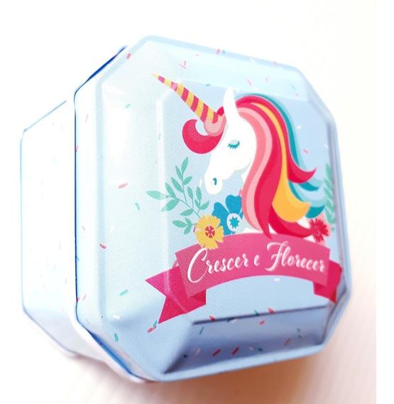 Caja Metalica Vintage Unicornio 2 Pastillero Alhajero