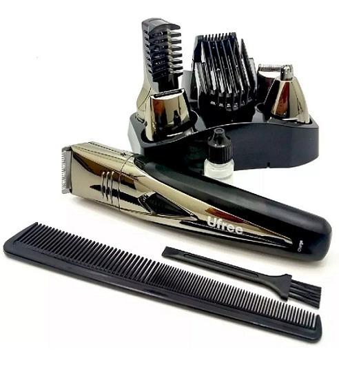 Máquina De Cortar Cabelo Barba Aparador Profissional 7 Em 1