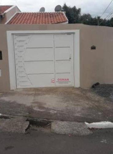 Casa Com 2 Dormitórios À Venda, 100 M² Por R$ 265.000,00 - Vila Diva (nova Veneza) - Sumaré/sp - Ca0931