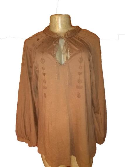 Blusa Zara Original Para Damas Con Bordados