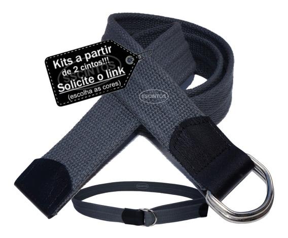 Cinto Masculino Lona Premium C/ Argola Larg. 4cm Ref L47 Cf