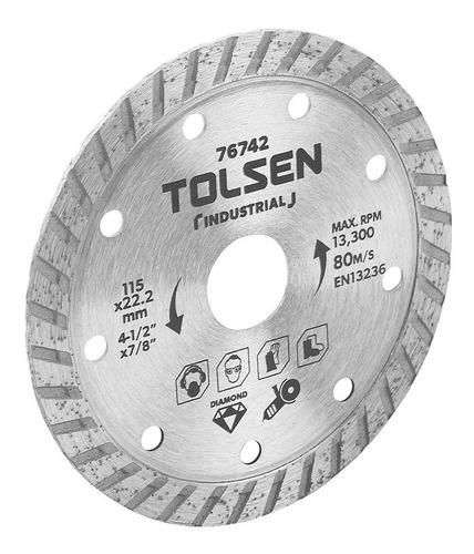 Disco De Corte Diamantado Turbo 7'' Industrial Tolsen 76745
