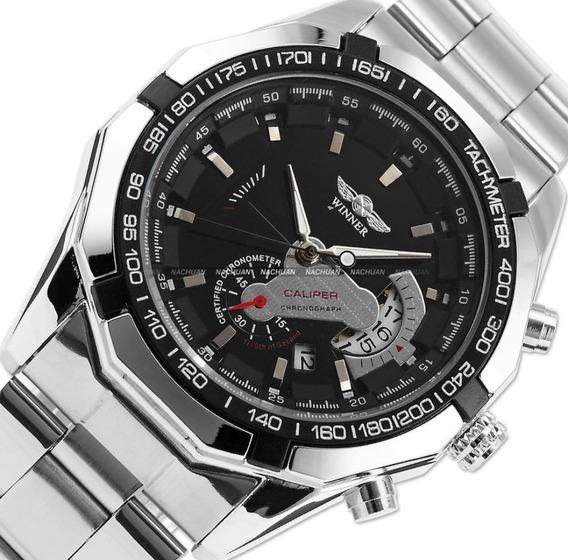 Relógio De Luxo Automatico Na Caixa Com Garantia Aço