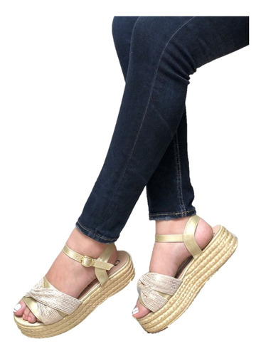 Hermosa Sandalia Para Dama De Plaforma, Calidad