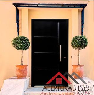 Puerta Doble Chapa Inyectada Premium Barral Inox Y Apliques