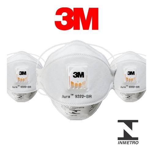 Imagem 1 de 7 de Mascara Respirador Pff2 Aura 3m 9322 N95 1 Unidade