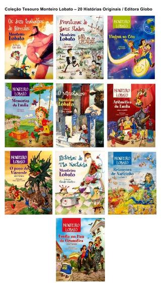Livro Coleção Monteiro Lobato - 20 Histórias Originais Globo
