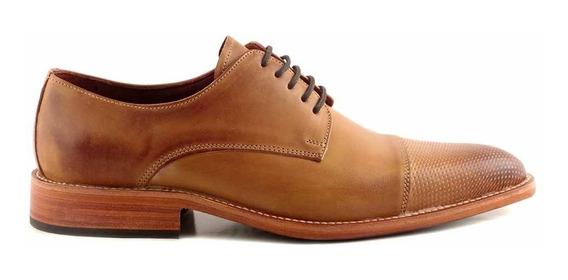 Zapato Hombre Cuero Briganti Picado Suela Sport - Hcac00906