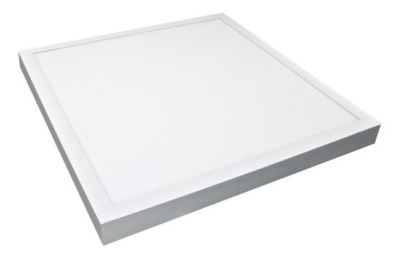 Plafon Sobrepor Quadrado 42w 40x40cm Branco Frio 6500k