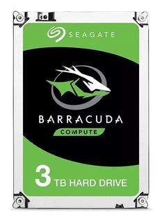 Disco Duro 3tb Seagate 3.5 St3000dm008 Nuevo 1 Año Garantia