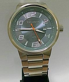 Relógio Technos Masculino Redondo Todo De Aço 2115ga/1l