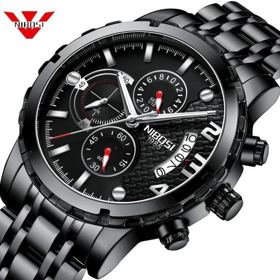 Relógio Masculino Nibosi Preto Modelo Ni2356