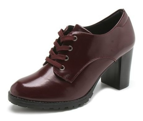 Sapato Feminino Ankle Boot Salto Grosso Mooncity 73081