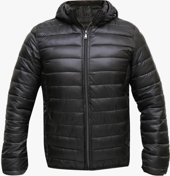 Jaqueta Masculina Em Nylon Com Capuz - Enviando Normalmente