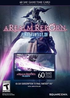 Tarjeta De Tiempo De 60 Dias De Real Fantasy Xiv A Realm Reb