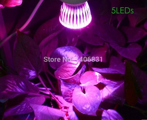 Kit 3 Lâmpada 15w Grow Led Hidroponia Aquario Planta E27 Pro