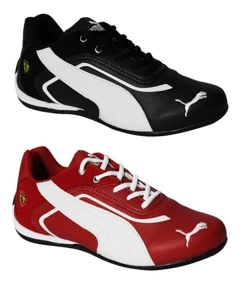 Kit 02 Tênis Ferrari Masculino Casual Caminhada Promoção
