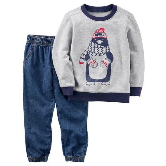 Conjunto Moletom + Jeans Penguin Carter