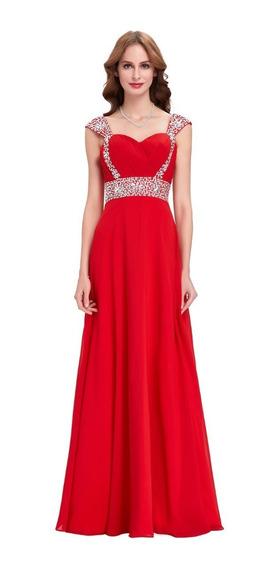 Vestido Rojo Elegante Grados Gala Cóctel Fiesta Disponible