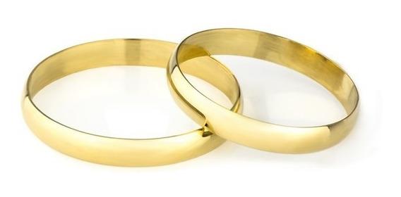 Par De Aliança De Casamento Em Ouro 18k 2,9mm Ta29
