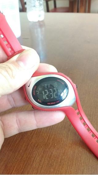 Relógio Nike Unisex Prata E Vermelho , Muito Bonito
