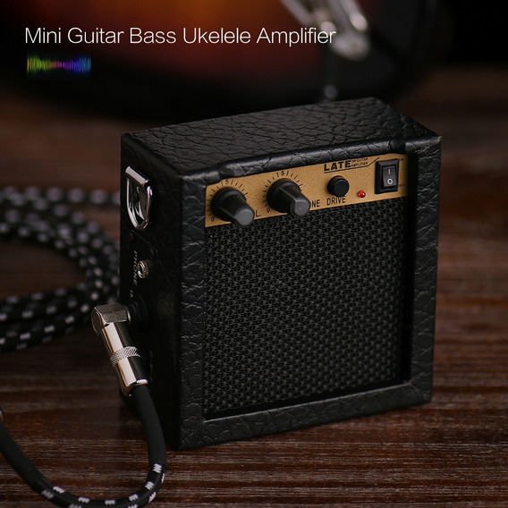 Bateria Mini Guitarra Basta Ukulele Ukelele Amp Amplificador