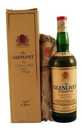 The Glenlivet Aged 12 Year Pure Single Malt Sw 75 Cl 43 1960