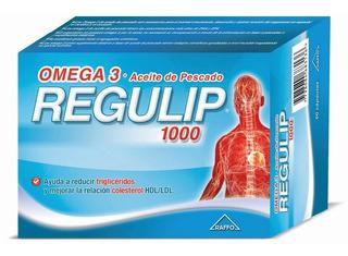 Omega 3 Regulip 1000 Regula Colesterol X50 Cp Aceite Pescado